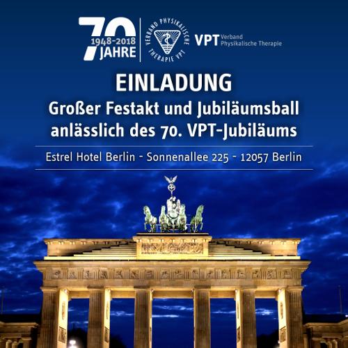 70 Jahre VPT | Einladung zu den Jubiläumsfeierlichkeiten
