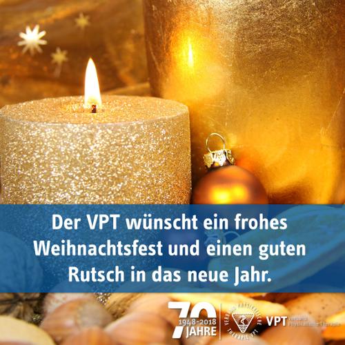 Der VPT wünscht ein frohes Weihnachtsfest