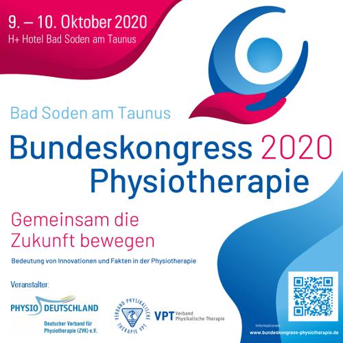 Bundeskongress Physiotherapie 2020: ab jetzt zum Frühbucherpreis anmelden!