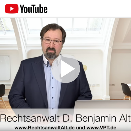 Videos | Aktuelle Informationen vom VPT-Justiziar Benjamin Alt
