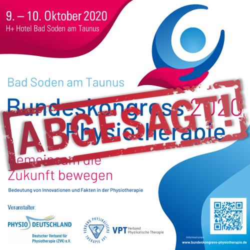 Abgesagt: Bundeskongress Physiotherapie 2020