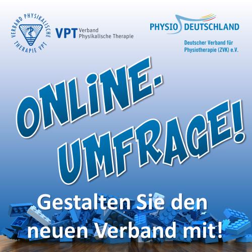Onlinebefragung von VPT und Physio-Deutschland läuft noch bis Ende November - jetzt selbst mitgestalten!