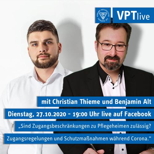 VPTlive | Nächster Termin am 27. Oktober 2020 - 19:00 Uhr
