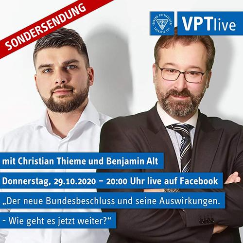 VPTlive | Sondersendung zum Bundesbeschluss und seinen Auswirkungen