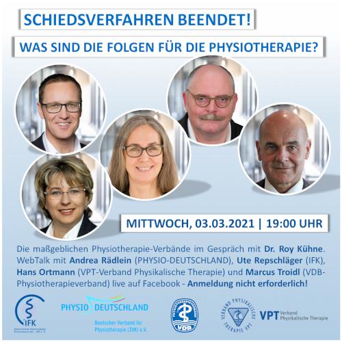 WebTalk | Live auf Facebook – die vier Vorsitzenden der PT-Verbände gemeinsam mit Dr. Roy Kühne