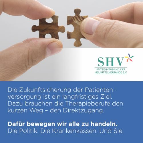 SHV | Ohne Umweg zum Therapeuten – die Politik kann es möglich machen!
