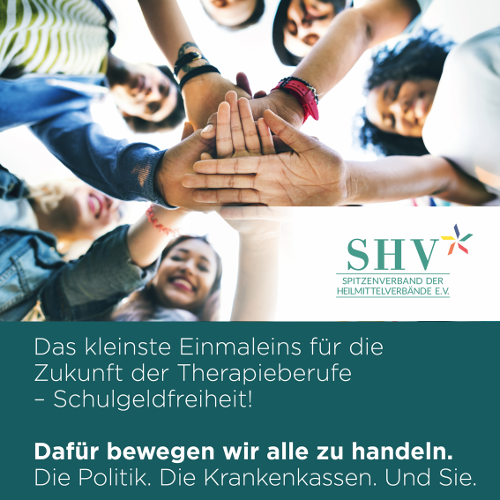 SHV | Kostenfreie Ausbildung für Therapeuten, Therapie der Patienten sichern und den Fachkräftemangel bekämpfen – jetzt handeln!